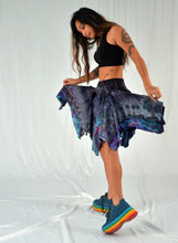 Load image into Gallery viewer, Pocket Pixie Festival Skirt | Water Sign Blues