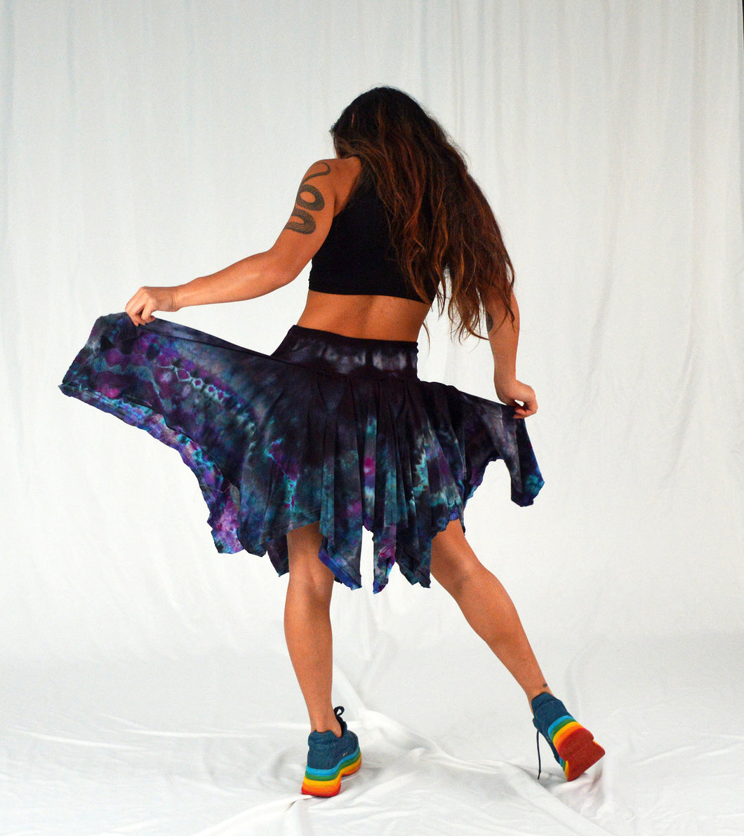 Pocket Pixie Festival Skirt | Water Sign Blues