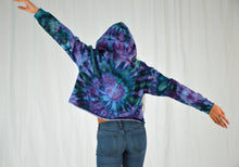 Load image into Gallery viewer, Crop Hoodie | Purple + Teal