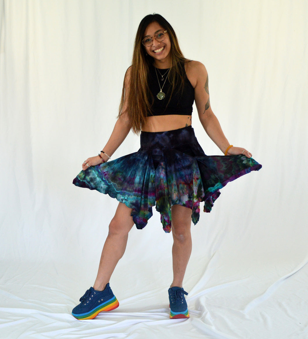 Pocket Pixie Festival Skirt | Night Rainbow