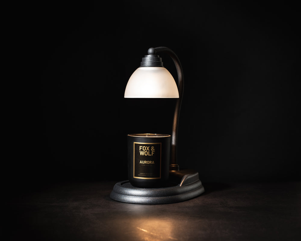 AURORA LAMP FOR SCENTED CANDLES IN BLACK