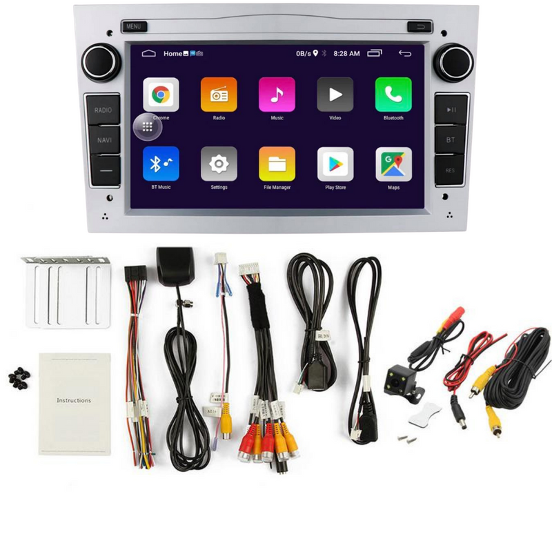 Vauxhall Android Car Stereo GPS SatNav Bluetooth Hands Free Music FM Radio USB Screen Mirroring Reverse Camera - PlusCenter.co.uk