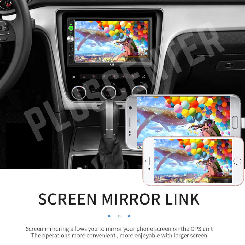 "PLUS 7023B 7"" MP5 Car Stereo Bluetooth Multimedia with Reverse Camera - PlusCenter.co.uk"
