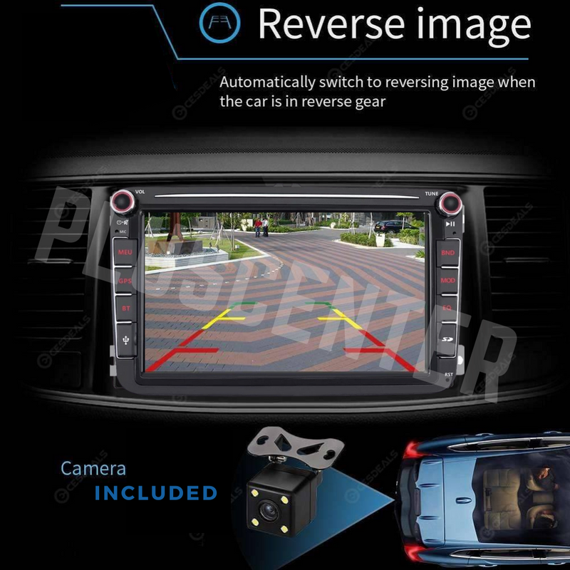 "PLUS 8003 8"" VW Seat Skoda Android Car Stereo Bluetooth Multimedia with Reverse Camera - PlusCenter.co.uk"