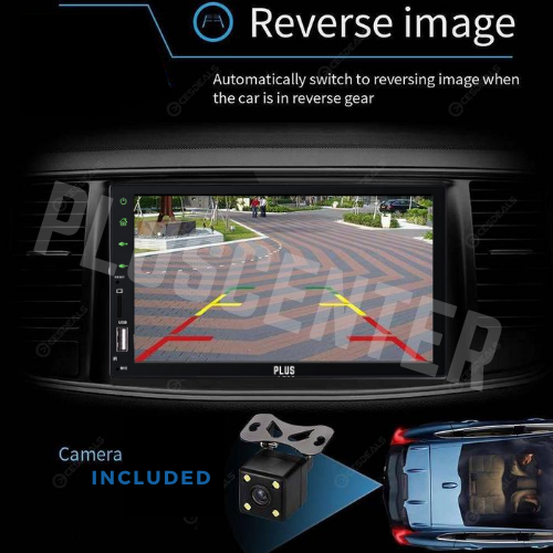 "PLUS 7019 7"" MP5 Car Stereo Bluetooth Multimedia with Reverse Camera - PlusCenter.co.uk"