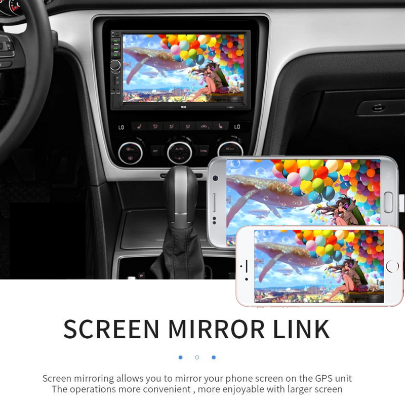 "PLUS 7880s 7"" MP5 Car Stereo Bluetooth Multimedia with Reverse Camera - PlusCenter.co.uk"