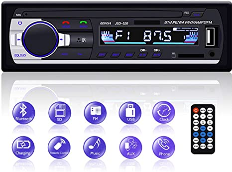 PLUS Bluetooth MP3 Single DIN GPS Car Stereo MP3 AUX USB FM MP3 - PlusCenter.co.uk