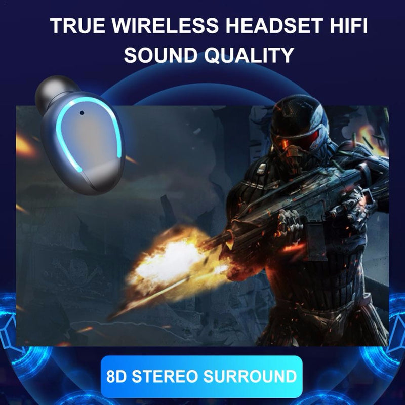 F9 Wireless Headset Bluetooth 5.0 Touch Control Waterproof - PlusCenter.co.uk