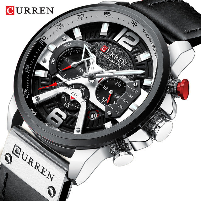 CURREN 8329 Military Leather Men Luxury Quartz Wristwatches Relogio Masculino - PlusCenter.co.uk