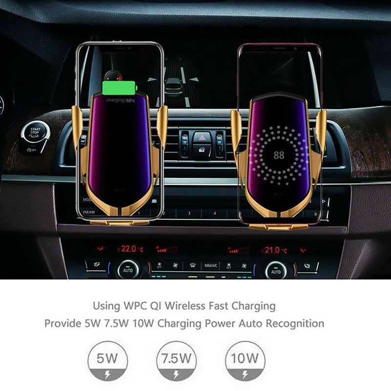 Wireless Car Charger - Smart Sensor iOs and Android - PlusCenter.co.uk
