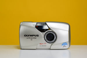 Olympus Mju II 35mm Film Camera Point and Shoot with Case