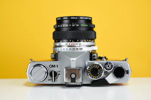 Olympus OM1 MD 35mm Film Camera with Zuiko 50mm f/1.8 Prime Lens