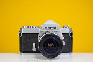 Nikkormat FTN 35mm Film Camera with Nikkor 28mm f/3.5 Lens