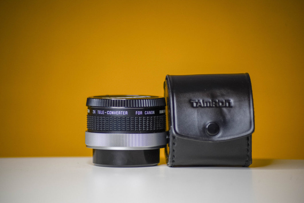 Tamron Sp BBAR MC F System 2x Teleconverter For Canon FD Mount Lens with Leather Case