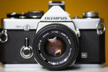 Load image into Gallery viewer, Olympus OM-2n Vintage 35mm Film Camera with Zuiko Auto-s 50mm f1.8 Prime Lens and Olympus Winder 2