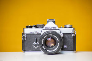 Olympus OM-2n Vintage 35mm Film Camera with Zuiko Auto-s 50mm f1.8 Prime Lens and Olympus Winder 2