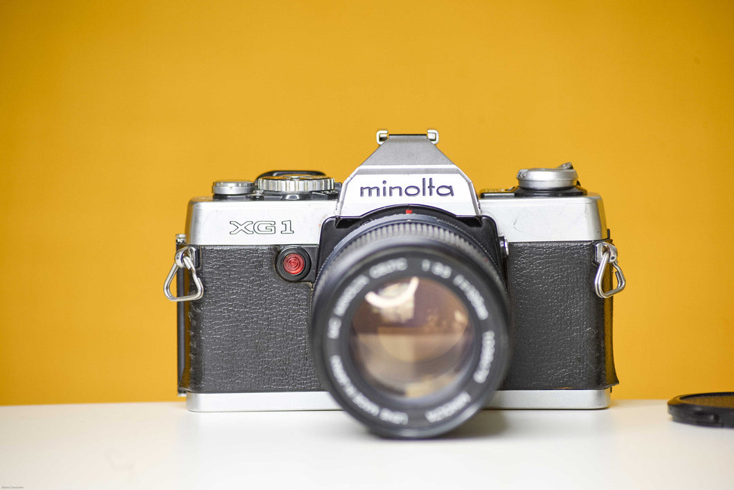 Minolta XG-1  Slr Vintage 35mm Film Camera with Mc Minolta Celtic 135mm f3.5 Lens