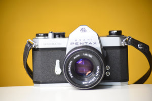 Pentax SP Vintage 35mm Film Camera with Pentacon Auto 50mm f/1.8 Prime Lens