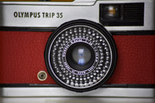 Load image into Gallery viewer, Olympus Trip 35 Vintage Film Camera with Zuiko 40mm f2.8 Lens Serviced with New Red Skin
