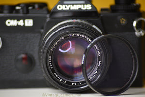 Olympus OM4ti 35mm Film Camera with Zuiko 50mm f1.4 Prime Lens Great Condition