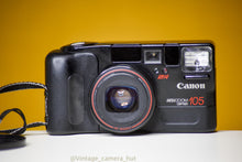 Load image into Gallery viewer, Canon Mega Zoom 105 35mm Film Camera with Cap and Strap