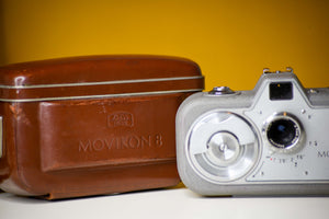 Zeiss Ikon Movikon Super 8 Video Camera with Original Brown Leather Case