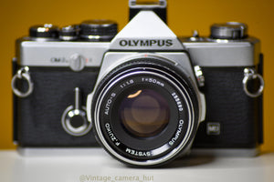Olympus OM2n MD 35mm Film Camera with Zuiko 50mm f/1.8 Lens Filter