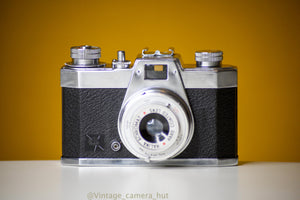 Halina Pet 35mm Film Camera with Leather Case