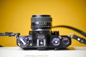 Pentax ES 35mm Film Camera with SMC Takumar 55mm f/1.8 Lens and Strap
