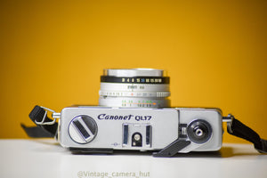 Canon Canonet QL17 GIII 35mm Film Camera with Canon 40mm f/1.7 Lens Rangefinder