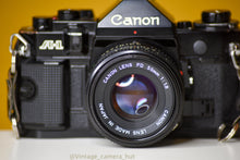Load image into Gallery viewer, Canon A-1 Vintage 35mm Film Camera with Canon FD 50mm f/1.8 lens