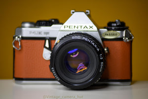 Pentax ME Super Vintage 35mm Film Camera with SMC Pentax-M 50mm f/2 Lens