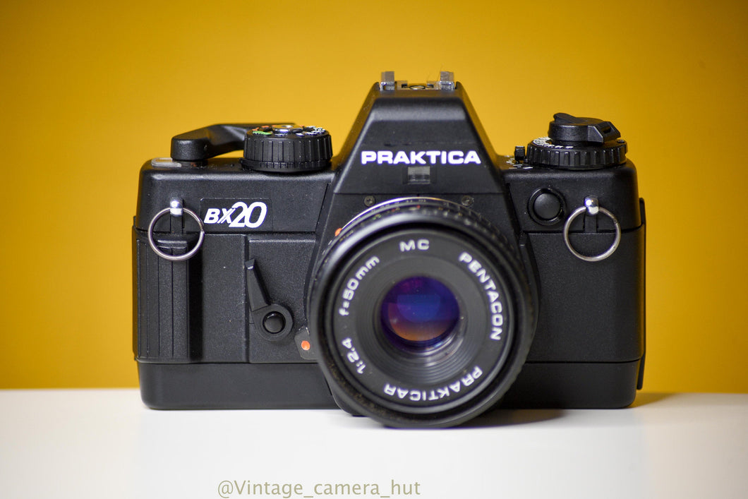 Praktica BX20 35mm Film Camera with Pentacon 50mm f/2.4 Pancake lens