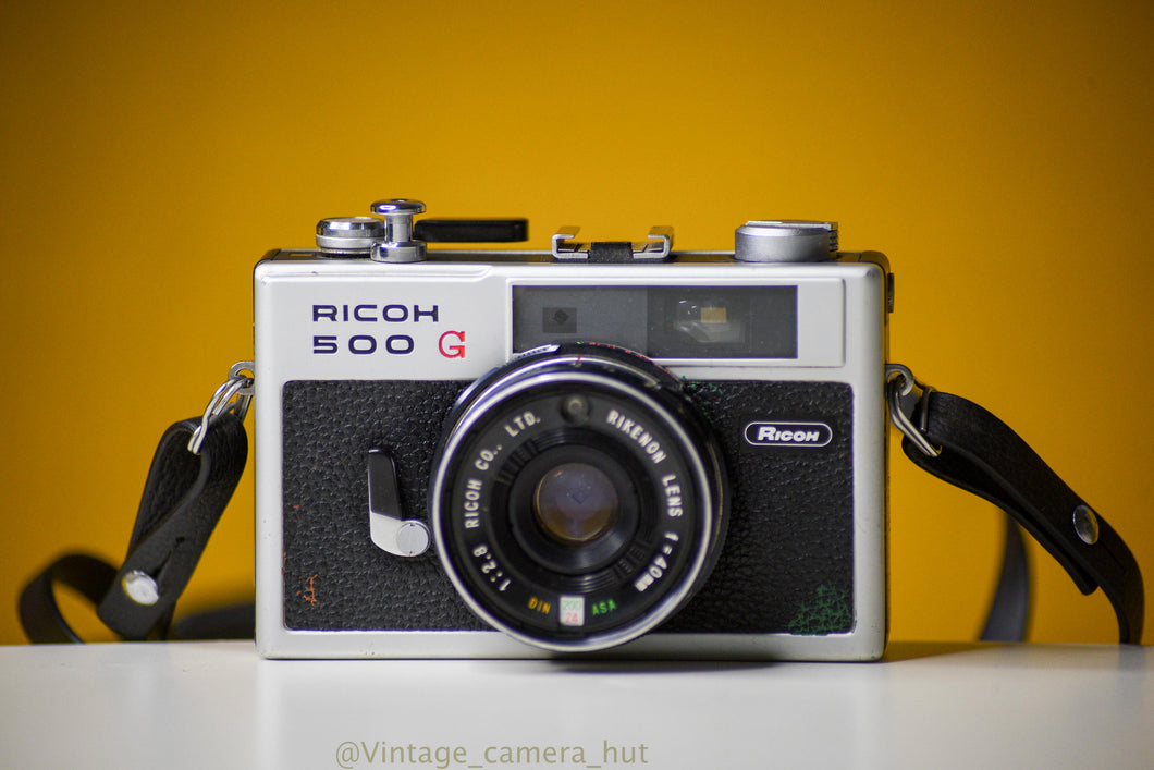 Ricoh 500G 35mm Film Camera  with Rikenon 40mm f/2.8 Lens