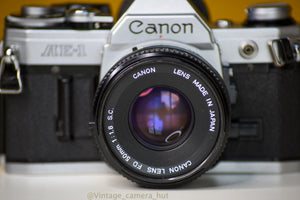 Canon AE-1 Vintage 35 Film Camera With 50mm F/1.8 Prime Lens