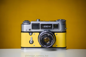 FED 4 Russian 35mm Vintage 35mm Film Camera (Coupled Rangefinder) & 53mm f/2.8 Lens