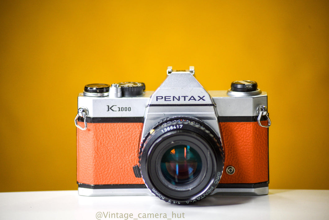 Pentax K1000 35mm Film Camera with SMC-M 50mm f/1.7 Prime Lens