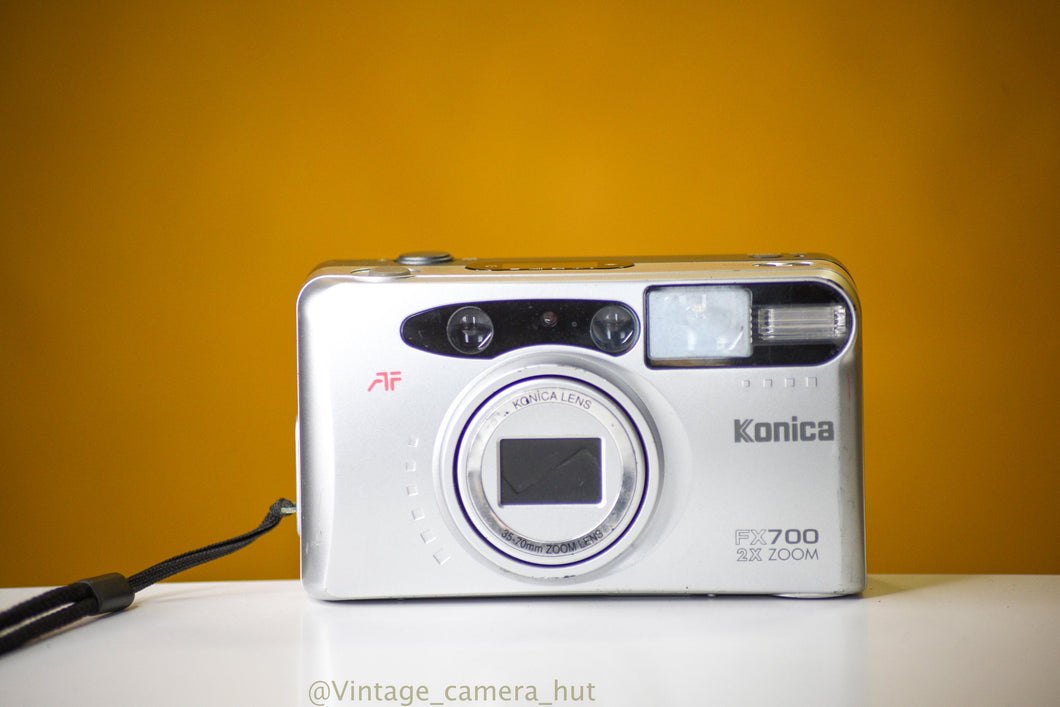 Konica FX 700 Zoom Film Camera Point and Shoot with Case