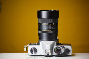 Cosina SL 35mm Film Camera with 135mm f/2.8 Lens