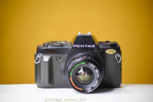 Pentax P30N 35mm Film Camera with Auto Chinon 28mm f/2.8 Lens