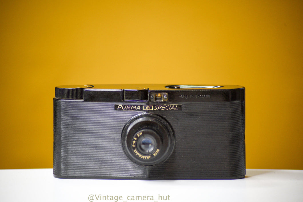 Purma Special 127 Film Camera with Leather Case