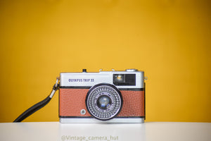 Olympus Trip 35 Vintage Film Camera with Zuiko 40mm f2.8 Lens  Reconditioned with New Leather Skin