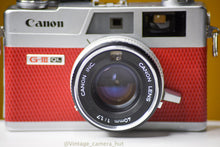 Load image into Gallery viewer, Canon Canonet QL17 GIII 35mm Film Camera with Canon 40mm f/1.7 Lens Rangefinder Reconditioned with new Red Skin