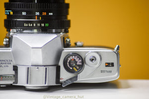 Minolta SR-7 Film Camera with Minolta MD Zoom 28-70mm f/3.5 Lens