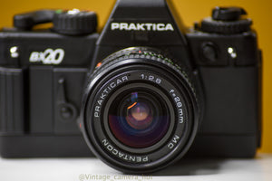 Praktica BX20 35mm Film Camera with Pentacon 28mm f/2.8 Lens