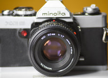 Load image into Gallery viewer, Minolta XG9 Vintage Film Camera 35mm with Minolta MD 50mm F/1.7 Prime Lens