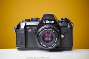 Nikon F-301 Body Slr 35mm Film Camera