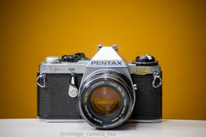 Pentax ME Super Vintage 35mm Film Camera with Super Takumar 55mm f/2 Lens Converted to M42 Mount