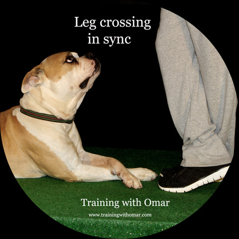 Leg crossing in sync trick