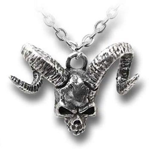 "Alchemy Gothic ""Skull of Azrael""  Pendant and Necklace"